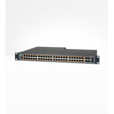 Intelligent Ethernet PoE Switch, 48 x 1 Gps and 4 SFP+, Removable Power Supply (not included) - no p